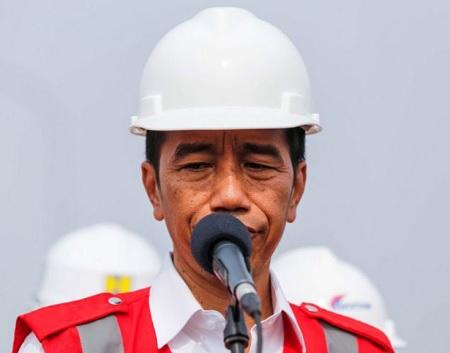 Presiden Joko Widodo Saat Mengesahkan Pembangunan Perumahan Murah di Cikarang